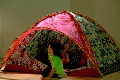 tent opening