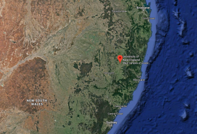 located between Sydney and Brisbane